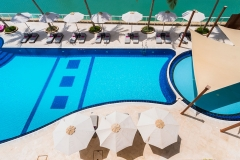 Juweira Hotel Pool overview Salalah